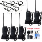5x Retevis RT1 Walkie Talkie 10W 3600mAh UHF VOX Two Way Radio + 5x Earpiece