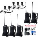 5x Retevis RT1 10W UHF Walkie Talkie 3600mAh VOX 2-Way Radio+ 5x Mini PTT Mic