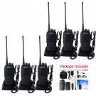 6× Retevis RT1 Walkie Talkie 10W 16CH UHF400-520MHz 3600mAh Two Way Radio