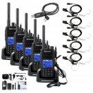5×Retevis RT3 DMR Walkie Talkie UHF400-480MHz 1000CH 5W VOX +5×Earpiece+Cable