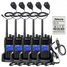5×Retevis RT3 DMR 5W 1000Ch UHF VOX UHF400-480MHz Radio +5×PPT MIC+Cable