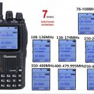 WouXun KG-UV9D + Speaker Mic 136-174/400-512MHz Multi-band Two Way Radio Duplex