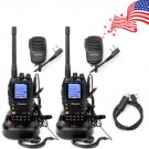 2x WouXun KG-UV9D Two Way Radio Repeater 136-174/400-480MHz 2x Speaker +1x Cable