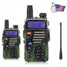 2x Baofeng UV-5R Plus Qualette V/UHF Dual Band FM HamTwo way Radio Walkie Talkie