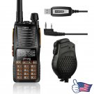 Baofeng GT-5 V/UHF Two Way Radio FM Walkie Talkie + Dual PTT Speaker + Cable&CD