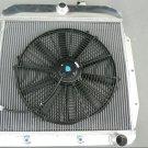 3row for Chevy / GMC Truck Pickup 1955 1956 1957 1958 59 Aluminium Radiator + fan