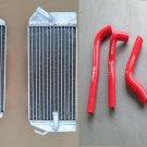 Aluminium radiator+hose Honda CRF450R CRF 450R CRF450 02 04 03 2002 2003 2004