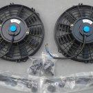 "2 × 9"" inch Universal Electric Radiator RACING COOLING Fan + mounting kit"
