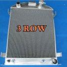 3 row for 1932 Ford Hi-Boy Grill Shells Chevy Engine Aluminium Radiator New 32