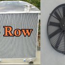 """For Ford Model T Bucket Chevy Engine 1924-1927 3-Row Aluminum Radiator & 16"""" FAN"""