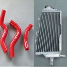 Aluminum Radiator & hose for Honda CR125R CR 125R CR125 2000 2001 00 01