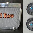3 ROW 1964 1965 1966 1967 Chevy Chevelle/El Camino Aluminum Radiator +2X12''FANS