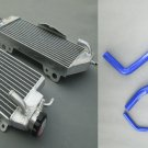 Aluminum Radiator and blue hose for KAWASAKI KXF450 KX450F 2012 2013 2014 12 13