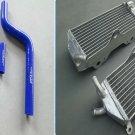 Aluminum Radiator AND BLUE HOSE for YAMAHA YZ 125 YZ125 2002 2003 2004 02 03 04