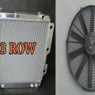 3 ROW ALUMINUM RADIATOR for 87-06 JEEP WRANGLER YJ/TJ 2.4L 2.5L 4.0L 4.2L + FAN