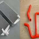Aluminum radiator and RED hose FOR Suzuki RMZ450 RMZ 450 2013 2014 13 14