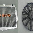 3 ROW 1966-1970 Datsun Roadster Fairlady Aluminum RADIATOR + FAN 67 68 69 70
