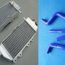 Aluminum radiator and BLUE hose Yamaha YZ125 2005-2014 2006 2007 2008 2009 2010