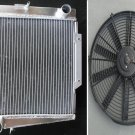 ALUMINUM RADIATOR DATSUN SPORTS FAIRLADY 1500/1600/2000 ROADSTER 1963-1970 + FAN