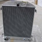 New 3 ROW 1932 32 FORD HIBOY HI-BOY CHOPPED FORD ENGINE Aluminum Radiator