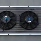 "3 ROW 1967-1972 CHEVY C/K Series Pickup Trucks Aluminum RADIATOR +2 x 10"" fans"