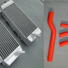 Aluminum Radiator AND RED HOSE for Yamaha YZF250 YZ250F YZF 250 YZ 250F 06 2006