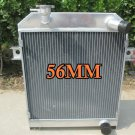 FOR 56MM ALUMINUM ALLOY RADIATOR JAGUAR MK2/MK II MT 1959-1967 1960 1961 62 63