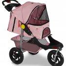 New OxGord 3 Wheel Walk Jogger Pet Stroller Cat Dog Travel Folding Carrier Deluxe