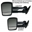 Side View Mirrors Power Heated Towing Pair Set for Silverado Tahoe Sierra Yukon