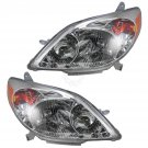 Headlights Headlamps Left & Right Pair Set NEW for 03-08 Toyota Matrix