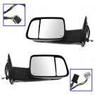 Mirror Tow Power Heated Signal Puddle Light Textured Black Pair Set for 13 Ram
