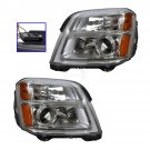 Headlight Headlamp Driver & Passenger Pair Set of 2 for 10-13 GMC Terrain