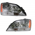 New Headlights Headlamps Pair Set For 05-06 Kia Sorento