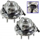 (2) Front Wheel Hub & Bearing Pair Set for Chevy GMC Truck 8 Lug 4X4 4WD w/ ABS