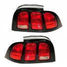New Taillights Taillamps Rear Brake Light Left/Right Pair Set for 96-98 Ford Mustang