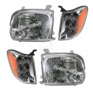 Headlight Headlamp Corner Light Lamp Kit Set of 4 for Tundra Double Cab Sequoia