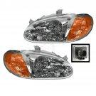 New Headlights Headlamps Left LH & Right RH Pair Set For 98-01 Kia Sephia