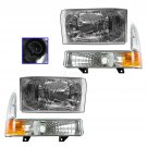 Performance Headlight & Parking Light Kit Set of 4 for Ford Pickup Excursion New