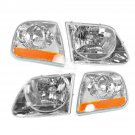 New Headlights & Corner Parking Lights Kit Set for F150 Expedition Lightning Style