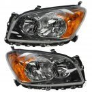New Front Headlight Headlamp Light Lamp Pair Set for 09-12 Toyota Rav4 Sport