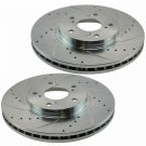 Nakamoto Performance Brake Rotor Drilled Slotted Front Coated Pair for VW 312MM