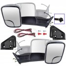 New Side Mirror Manual Signal Towing Flip Up Chrome Pair Set for 94-01 Ram Pickup