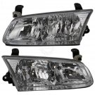 Headlights Headlamps Left & Right Pair Set for 00-01 Toyota Camry