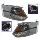 New OEM Black Headlight Headlamp LH & RH Kit Pair Set of 2 for Ram Pickup Truck New
