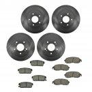 New Front & Rear Premium Posi Ceramic Disc Brake Pads & Rotors Kit Set for Nissan