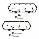 New Valve Cover Gasket Repair Kit & Glow Plug Harnesses for Ford Van Truck Pickup
