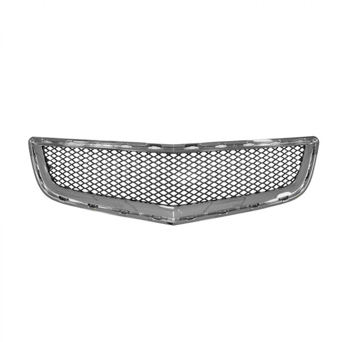 Chrome with Black Mesh Lower Grille Grill 20756061 for 09-12 Chevy Traverse
