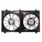 New Dual Cooling Fan for 03-07 Honda Accord 2.4L w/Nippondenso Radiator