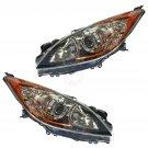 Halogen Front Headlight Headlamp Light Lamp Pair Set for 10-13 Mazda3 Mazda 3