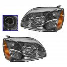 New Halogen Headlight Headlamp Pair Set of 2 Kit for Galant Dark Bezel